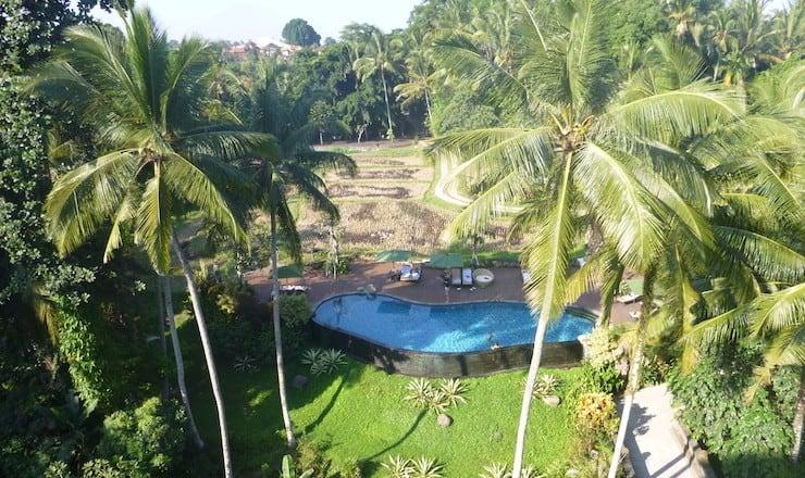 Bali Ubud uitzicht plataran hotel
