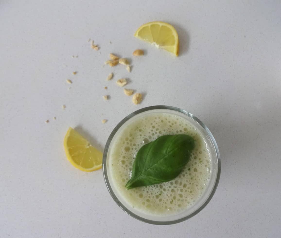 smoothie citroen basilicum banaan