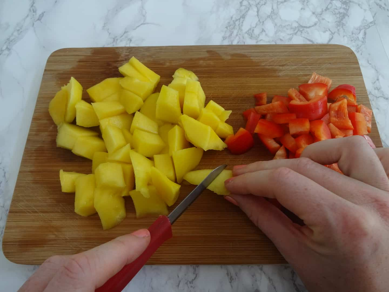 salade mango paprika