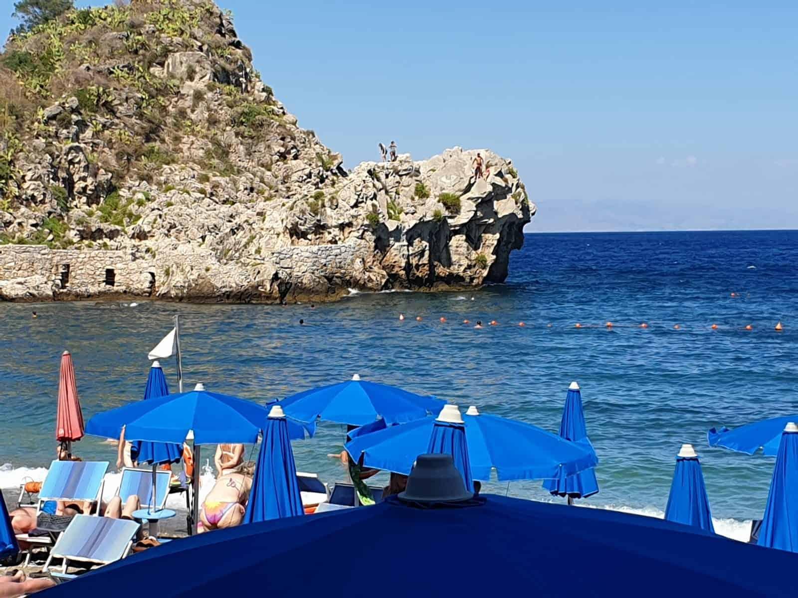 Sicilië Taormina strand