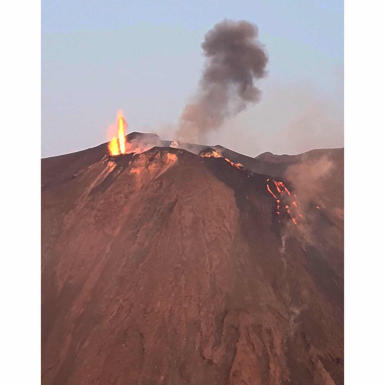 Uitbarsting Stromboli vulkaan